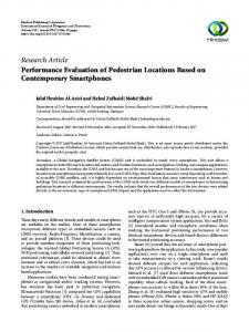 Performance Evaluation of Pedestrian Locations Based on ...