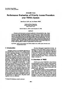 Performance Evaluation of Priority Access ... - Semantic Scholar