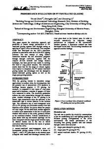 performance evaluation of pv ventilated glazing