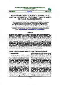 performance evaluation of tcp congestion control algorithms ...