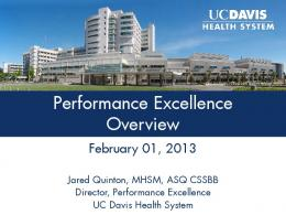 Performance Excellence Overview - UC Davis Health System