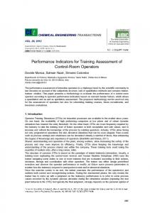 Performance Indicators for Training Assessment of Control ... - aidic