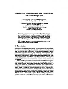 Performance Instrumentation and Measurement for ... - Semantic Scholar