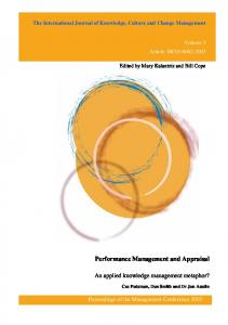 Performance Management and Appraisal - USQ ePrints