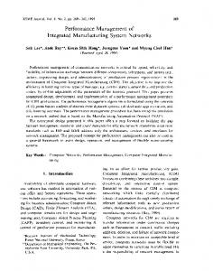Performance management of integrated manufacturing system networks
