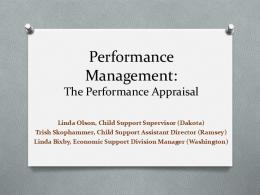 Performance Management: The Performance Appraisal