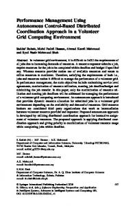 Performance Management Using Autonomous Control-Based ...