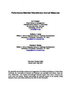 Performance Matched Discretionary Accrual Measures - CiteSeerX
