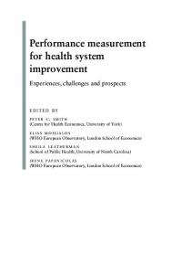 Performance measurement for health system
