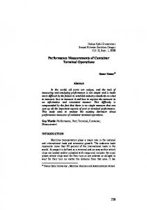 Performance Measurements of Container Terminal Operations (PDF ...