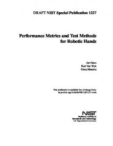 Performance Metrics and Test Methods for Robotic Hands - NIST Page