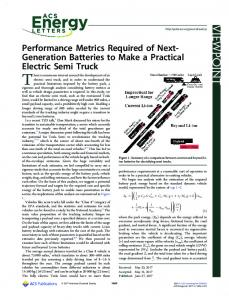 Performance Metrics Required of Next-Generation