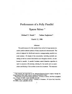 Performance of a Fully Parallel Sparse Solver - Semantic Scholar