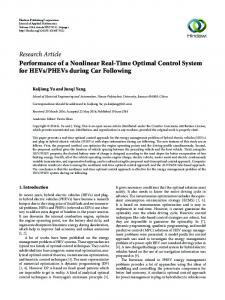 Performance of a Nonlinear Real-Time Optimal Control System for ...