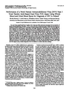 Performance of a Novel Human ... - Journal of Clinical Microbiology