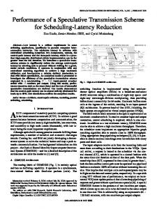 Performance of a Speculative Transmission Scheme for ... - IEEE Xplore