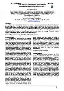 Performance of a three-phase fluidized bed reactor with ... - CiteSeerX