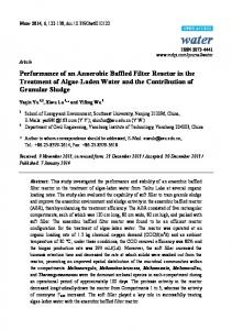 Performance of an Anaerobic Baffled Filter Reactor in the ... - MDPI
