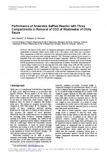 Performance of Anaerobic Baffled Reactor with Three Compartments ...