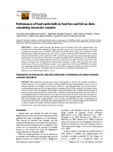 Performance of beef cattle bulls in feed lots and fed on diets ... - SciELO