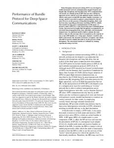 Performance of Bundle Protocol for Deep-Space ... - IEEE Xplore