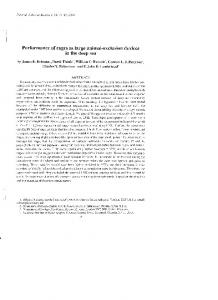 Performance of cages as large animal-exclusion ...