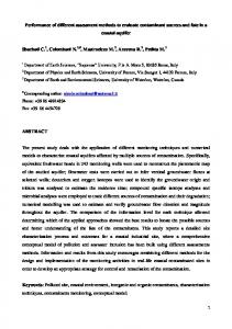 Performance of different assessment methods to ...