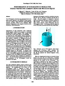 Performance of HTS Magnetic Shield for Highly-Sensitive Current ...