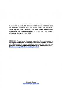 Performance of Interleave Division Multiple Access Based ... - CiteSeerX