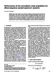 Performance of low-complexity code acquisition for ... - Semantic Scholar