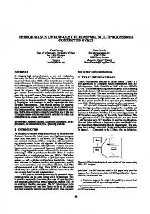 performance of low-cost ultrasparc multiprocessors