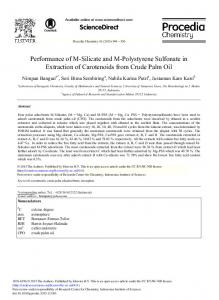Performance of M-Silicate and M-Polystyrene Sulfonate in ... - Core