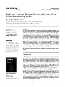 Performance of modified graphite as anode material for ... - KPubS