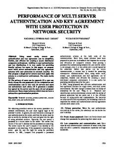 performance of multi server authentication and key agreement