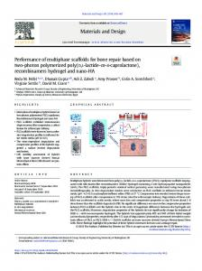 Performance of multiphase scaffolds for bone repair