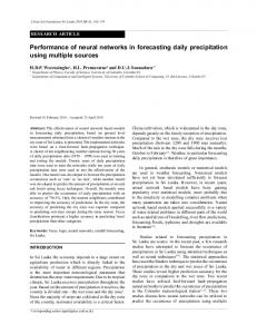 Performance of neural networks in forecasting daily precipitation using ...