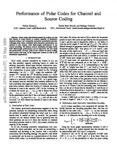 Performance of Polar Codes for Channel and Source Coding - arXiv