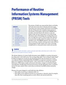 Performance of routine Information systems Management (PrIsM ...