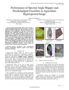 Performance Of Spectral Angle Mapper and Parallelepiped Classifiers ...