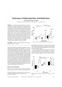 Performance of sulfoxylated fatty acid methyl esters - Springer Link