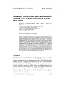 Performance of the dynamic single photon emission computed ...
