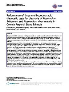 Performance of three multi-species rapid diagnostic ... - BioMedSearch