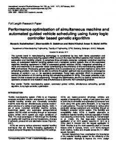 Performance optimization of simultaneous machine and automated ...