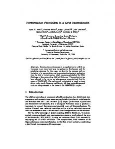 Performance Prediction in a Grid Environment - Semantic Scholar