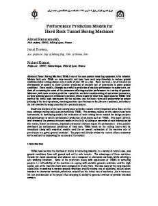 Performance Prediction Models for Hard Rock ... - Semantic Scholar