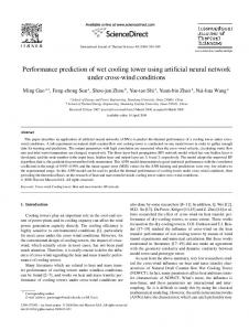 Performance prediction of wet cooling tower ... - ScienceDirect.com