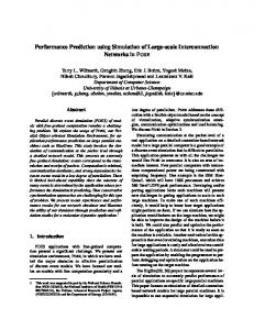 Performance Prediction using Simulation of Large-scale ...