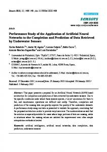 Performance Study of the Application of Artificial Neural Networks to ...