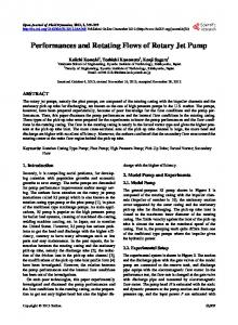 Performances and Rotating Flows of Rotary Jet Pump - Scientific ...