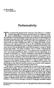 Performativity - University of Colorado Boulder